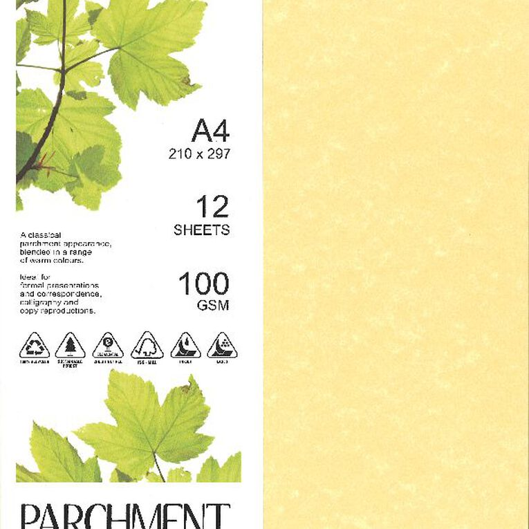 Direct Paper Parchment Paper 100gsm 12 Pack Saturn Gold A4, , hi-res image number null