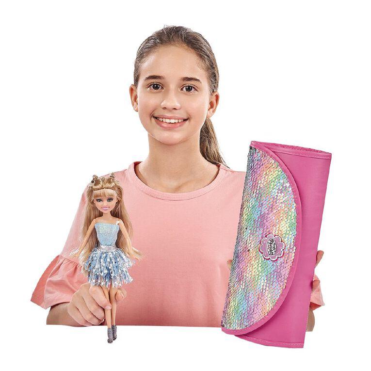 Zuru Sparkle Girlz Fashion Doll with Sequin Carry Case Assorted, , hi-res