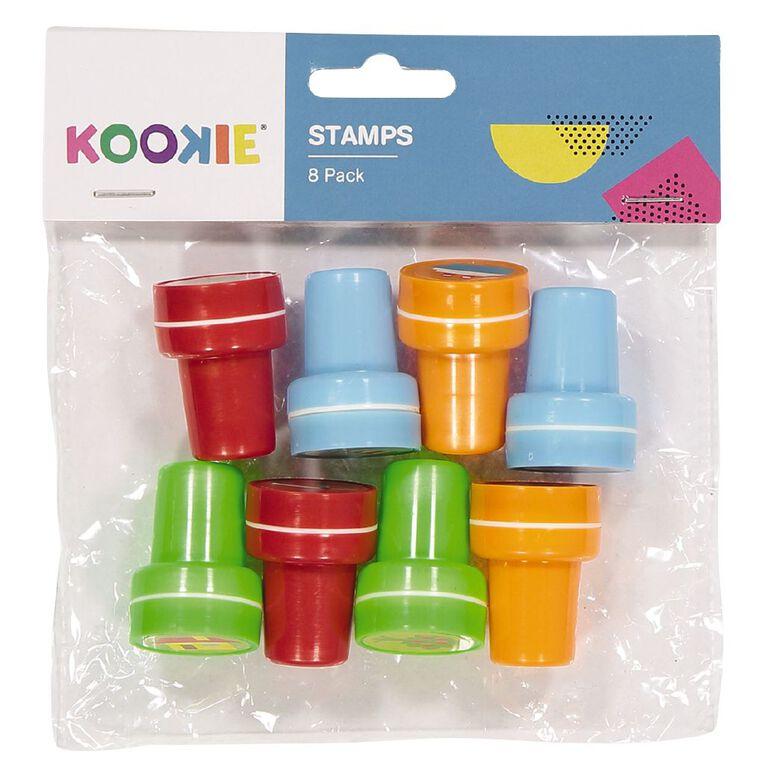 Kookie Stamp Set 8 Multi-Coloured 8 Pack, , hi-res
