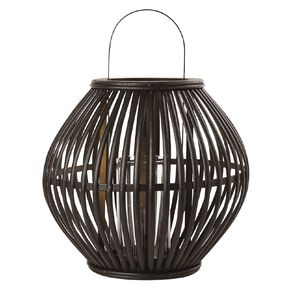 Living & Co Cutout Lantern 12cm x 12cm x 18cm Black