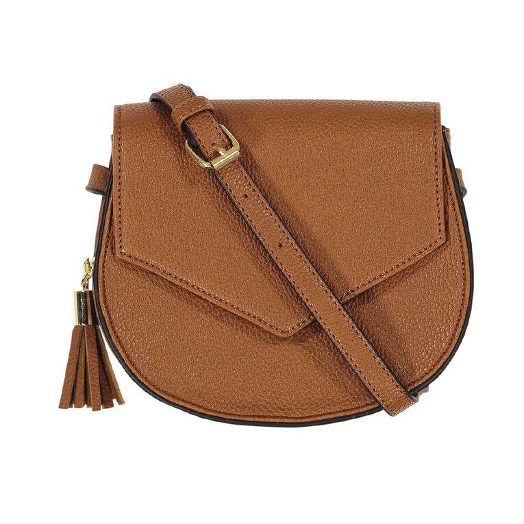 H&H Saddle Handbag, Brown, hi-res