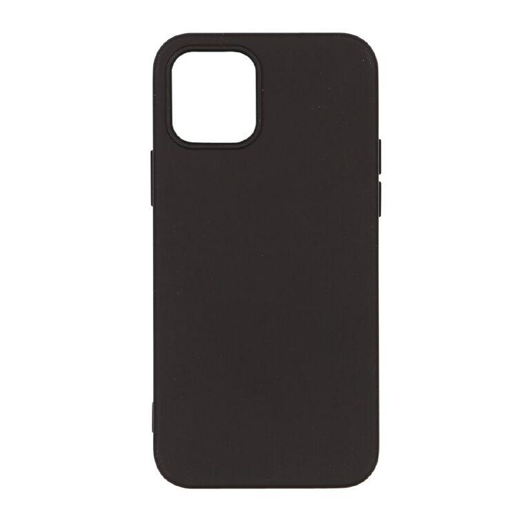 Tech.Inc iPhone 12 & 12 Pro Semi-hard TPU Case Black, , hi-res