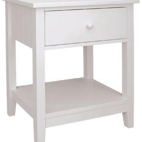 Living & Co Glacier 1 Drawer Bedside Cabinet White