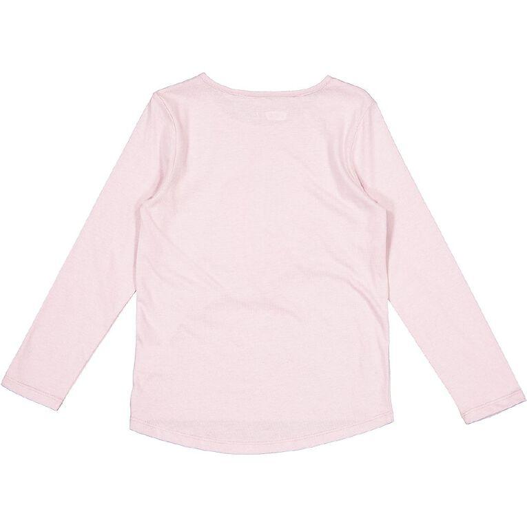 Young Original Long Sleeve Novelty Tee, Pink Mid BOW BUNNY, hi-res