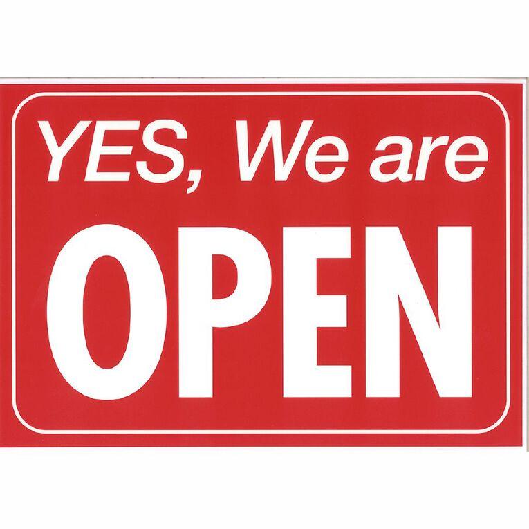 Sign Open/Closed 28 x 20.6cm Blue, , hi-res