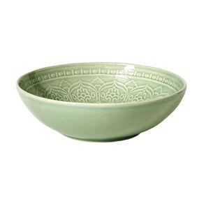 Living & Co Glazed Moroccan Bowl Sage Green