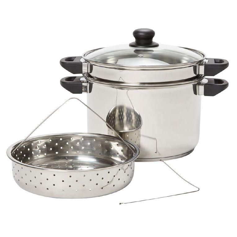 Living & Co Multi Cooker Set Silver 4 Piece, , hi-res
