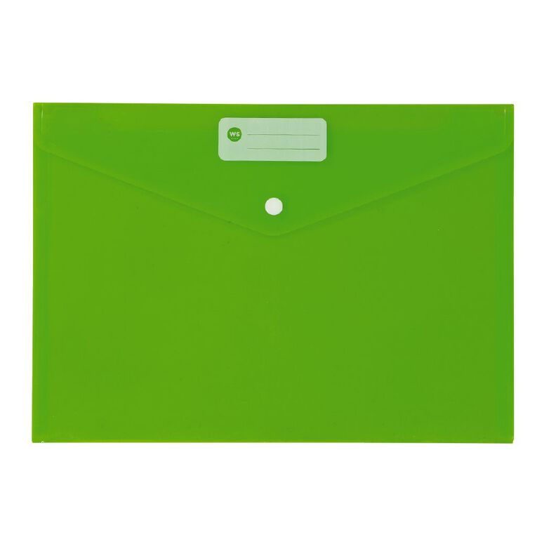 WS Document Envelope Single Dome Green, , hi-res