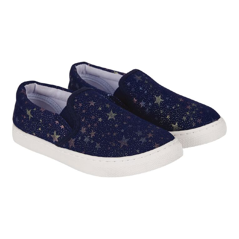 Young Original Kids' Blue Star Shoes, Denim Dark, hi-res