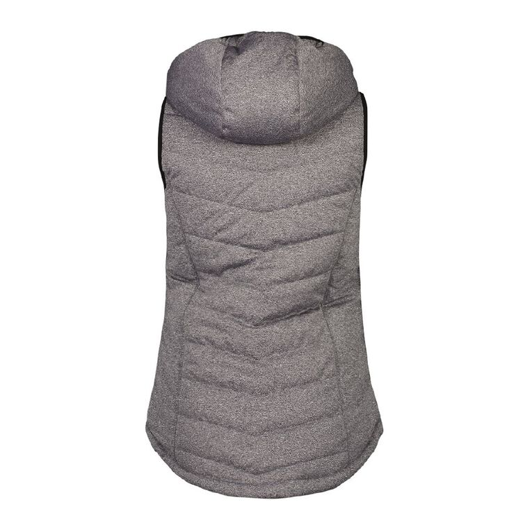 Active Intent Women's Marle Puffer Vest, Charcoal/Marle, hi-res image number null