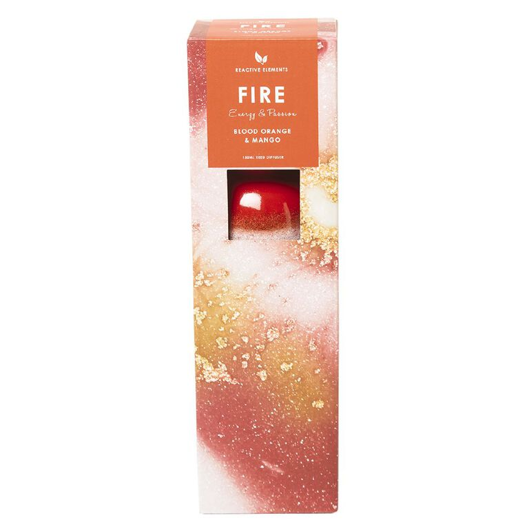 Living & Co Reactive Glazed Elements Fire Diffuser Red 150ml, , hi-res image number null
