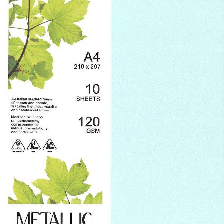 Direct Paper Metallic Paper 120gsm 10 Pack Aqua A4, , hi-res