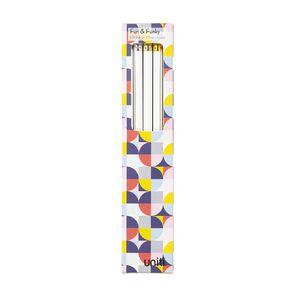 Uniti Geo Pencils 5 Pack White