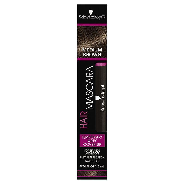 Schwarzkopf Hair Mascara Medium Brown 16mL, , hi-res