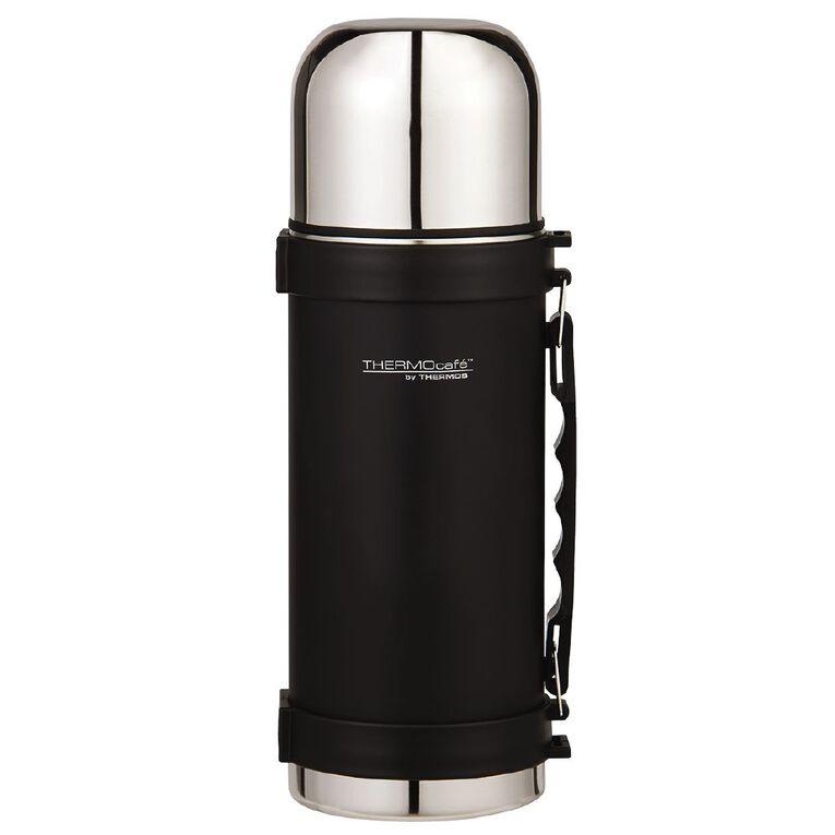 Thermos Insulated Vacuum Flask Black 1L, , hi-res