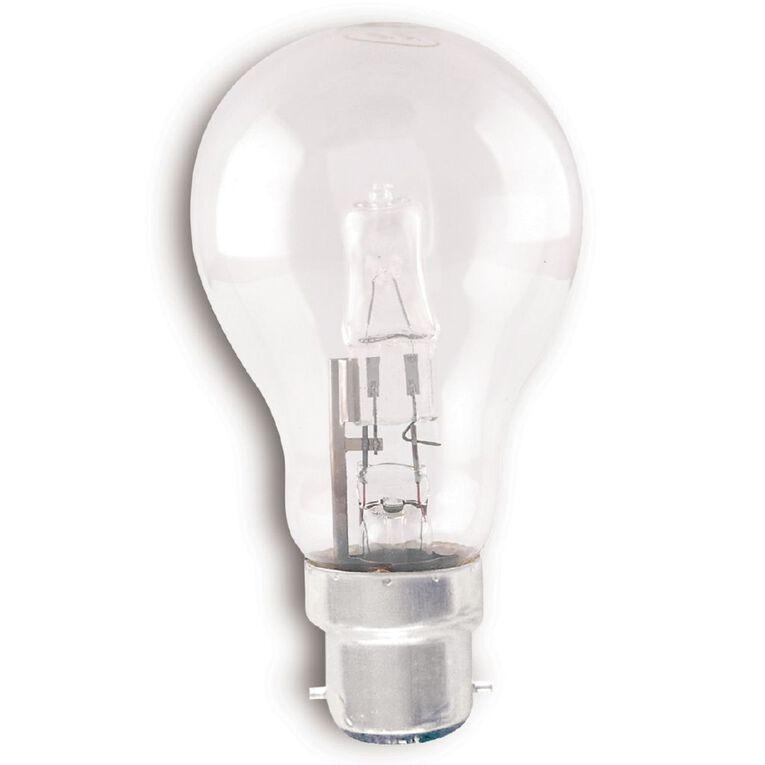 Edapt Halogen B22 Classic Light Bulb Clear 52w Warm White, , hi-res