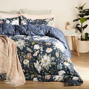 Living & Co Comforter Set 3 Piece Marisa Blue