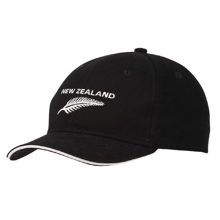Young Original New Zealand Fern Cap, Black, hi-res
