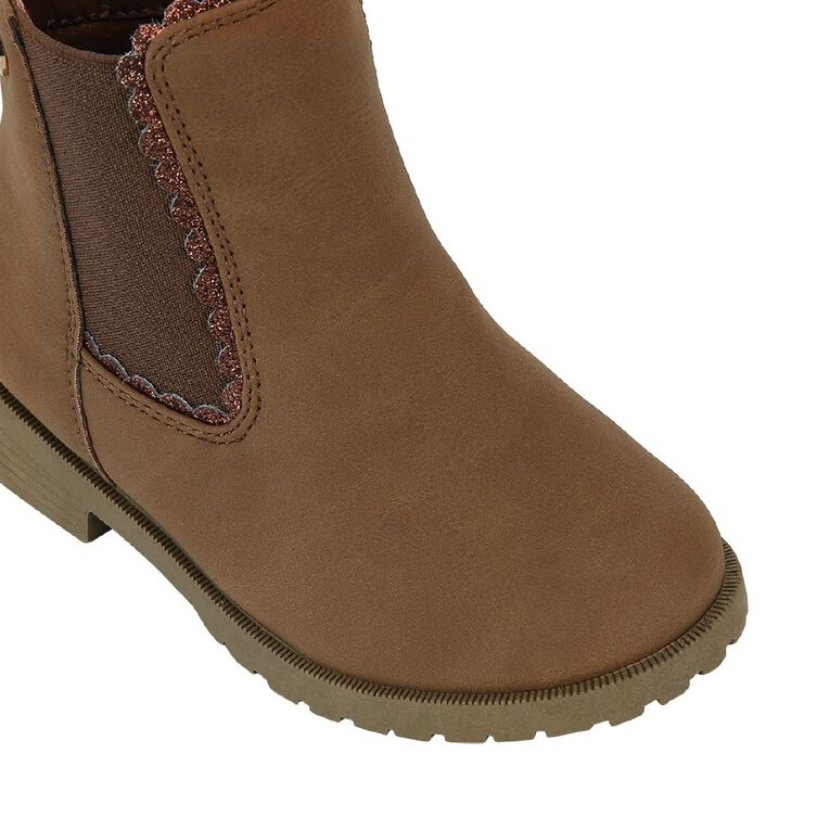 Young Original Kids' Button Boots, Brown, hi-res