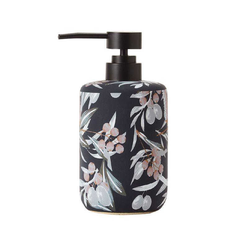 Living & Co Soap Dispenser Ceramic Ava Navy 450ml, Navy, hi-res