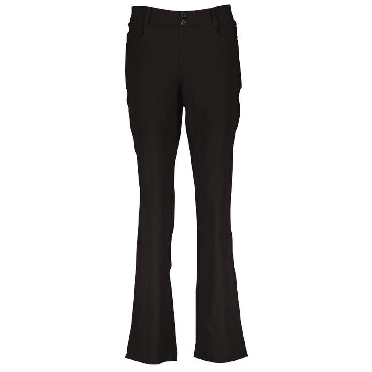 Schooltex Girls' College Bengaline Pants, Black, hi-res