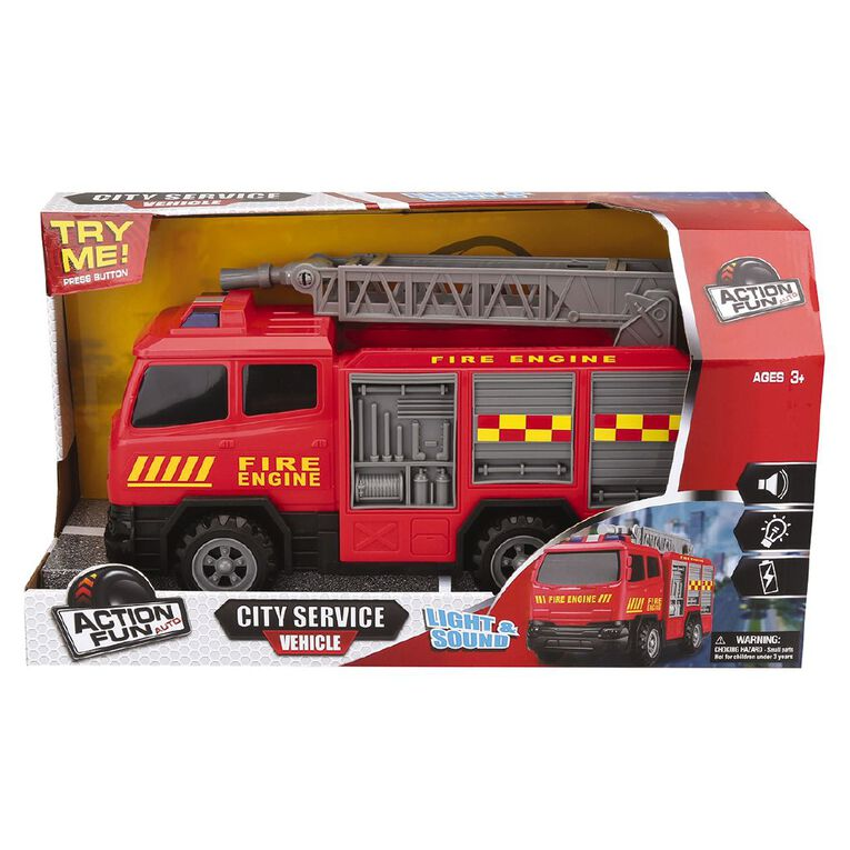 Play Studio Friction Power Fire Engine with Lights and Sounds, , hi-res