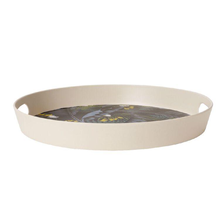 Living & Co Kiko Bamboo Round Tray Printed, , hi-res