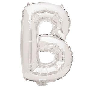 Artwrap Foil Balloon B Silver 35cm