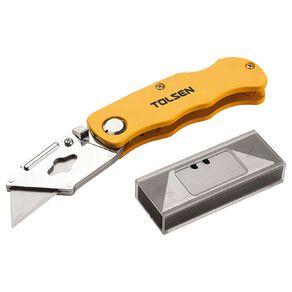 Tolsen Utility Knife With Aluminium Handle 19mm