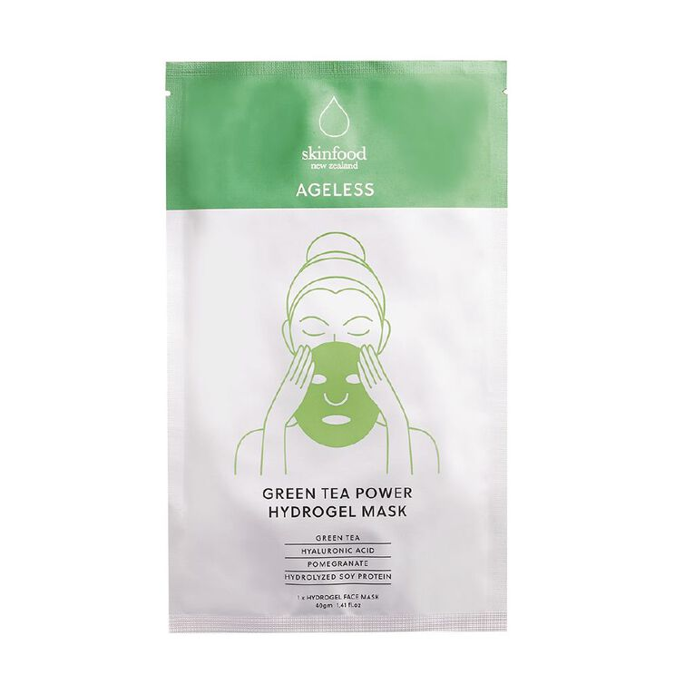 Skinfood Ageless GreenTea powder Hydrogel Mask, , hi-res