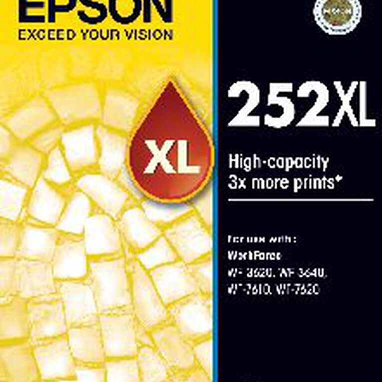 Epson Ink 252XL Yellow (1100 Pages), , hi-res