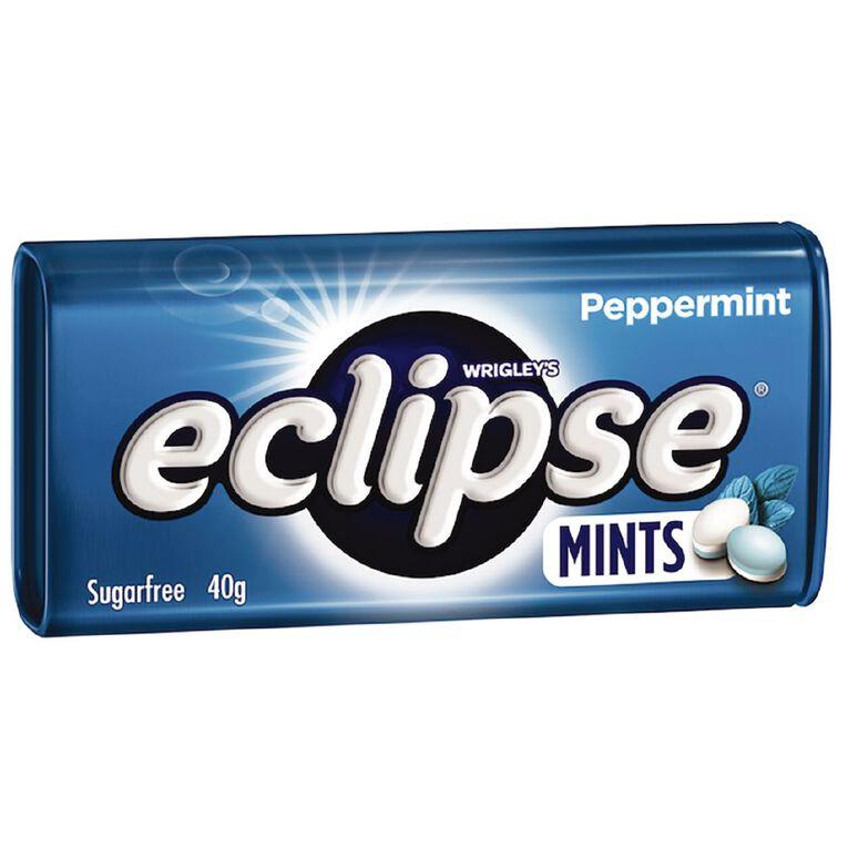 Eclipse Peppermint Mints Sugar Free Large Tin 40g 40g, , hi-res