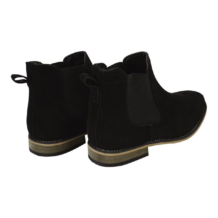H&H Dylan Wide Fit Boots, Black MicroSuede, hi-res