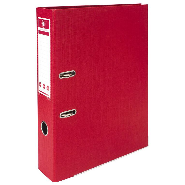 Office Supply Co Lever Arch Red Foolscap, , hi-res