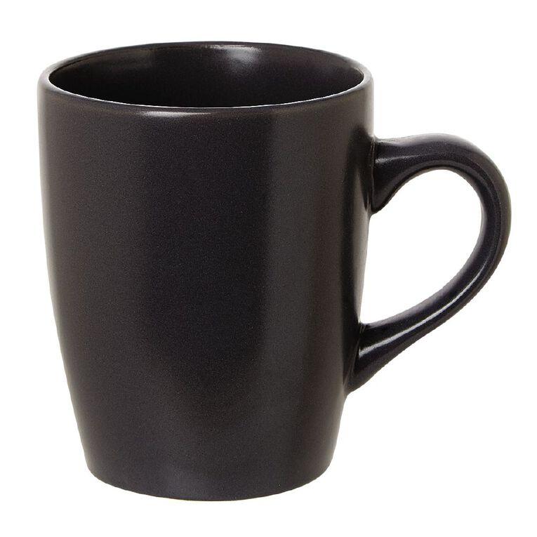 Living & Co Coast Matte Mug Black 350ml, , hi-res