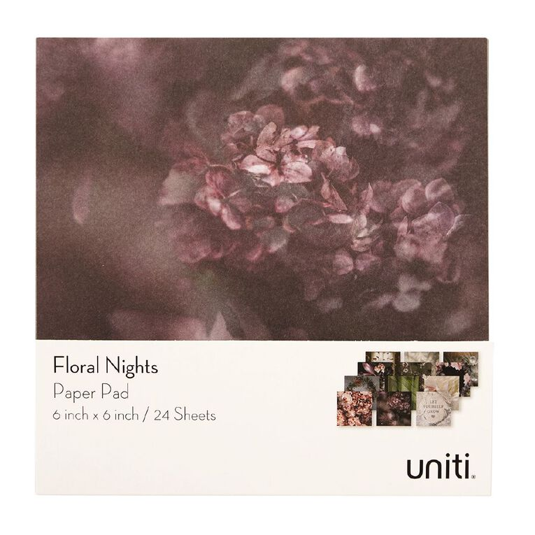 Uniti Floral Nights Paper Pad 6x6 Inch, , hi-res image number null
