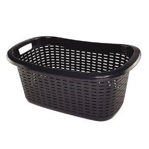 Taurus Laundry Basket Weave Charcoal 42L