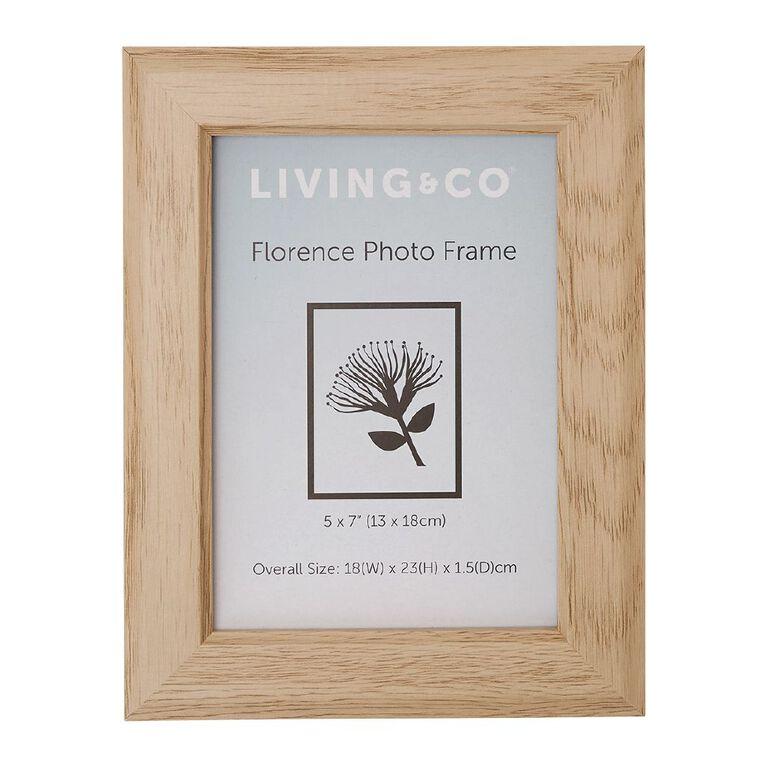 Living & Co Florence Frame Natural 5in x 7in, Natural, hi-res