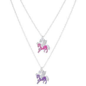 Kids' Best Friends Unicorn Pink Purple Necklace