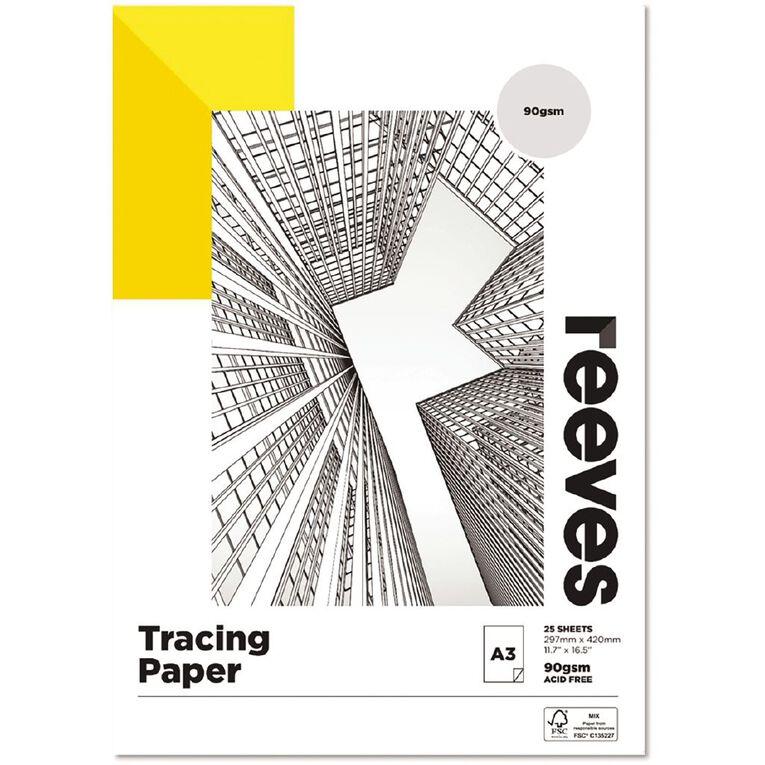 Reeves Tracing Pad 90gsm 25 Sheets A3, , hi-res