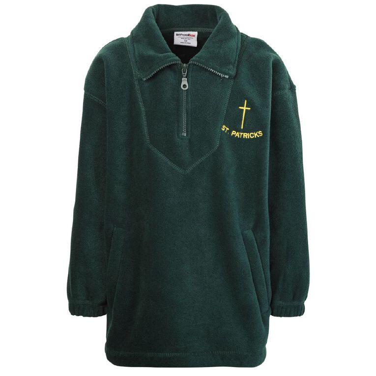 Schooltex St Patrick's Invercargill Polar Fleece Top with Embroidery, Bottle Green, hi-res