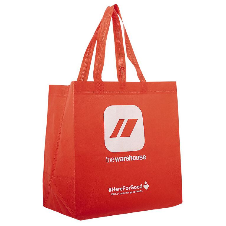 Warehouse Reusable Bag Red, Red, hi-res