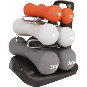 Active Intent Fitness Dumbbell Neoprene Set 12Kg