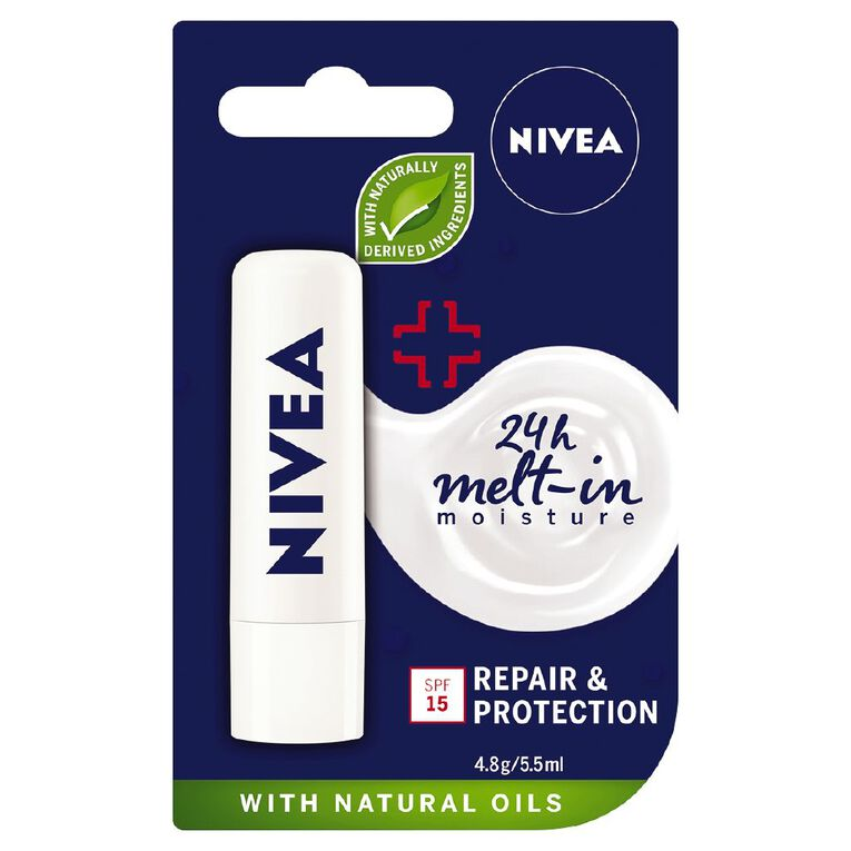 Nivea Care Repair and Protection Lip Balm 4.8g, , hi-res