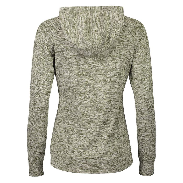 Active Intent Women's Peached Marle Sweatshirt, Green Dark, hi-res