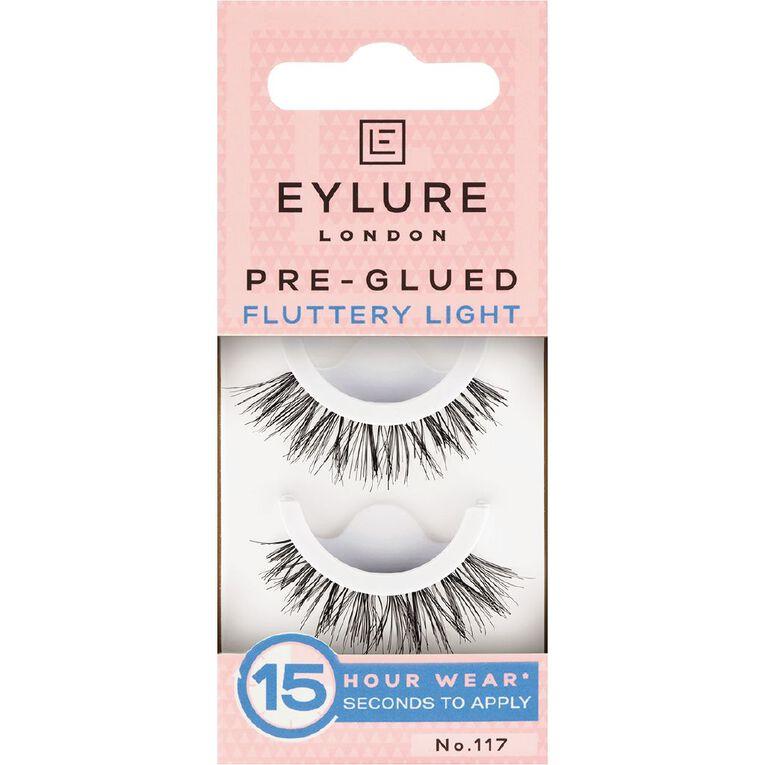 Eylure Pre-Glued Fluttery Light Lashes No. 117, , hi-res