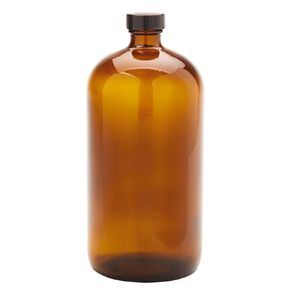 Living & Co Bistro Glass Bottle Amber 1L