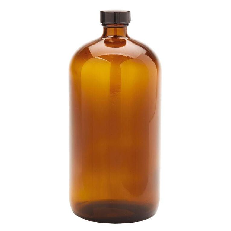 Living & Co Bistro Glass Bottle Amber 1L, , hi-res