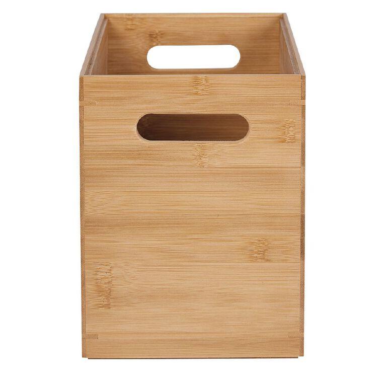 Living & Co Bamboo Storage Box Natural, , hi-res
