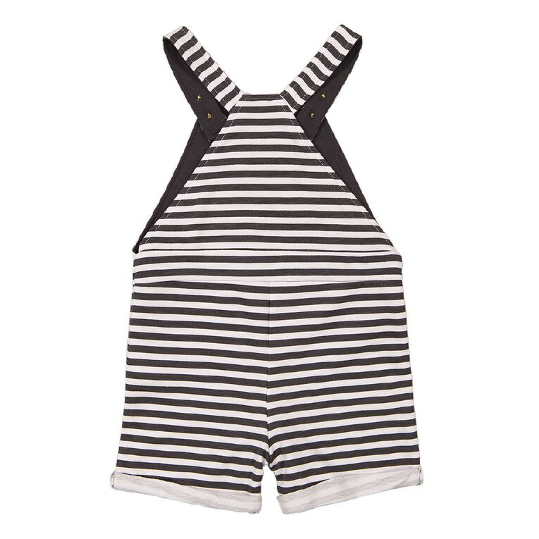 Young Original Baby Printed Overall, White, hi-res